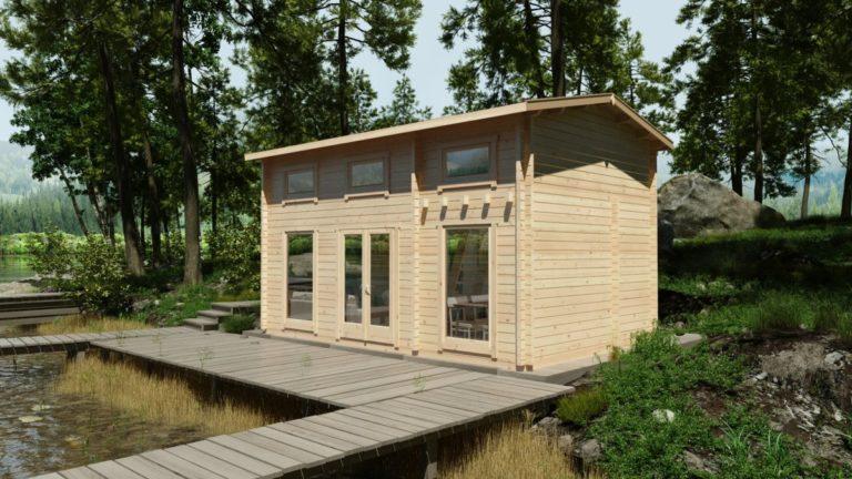 Летний дом со спальным лофтом SCHWEDEN B