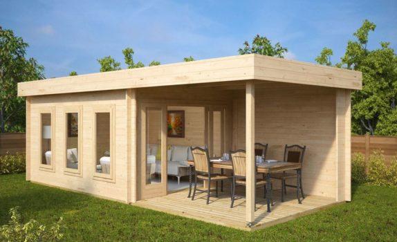 Современный домик с террасой JACOB E