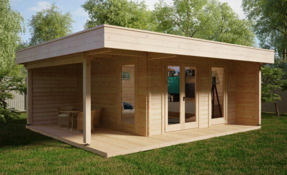 Современный домик с террасой HANSA LOUNGE XL