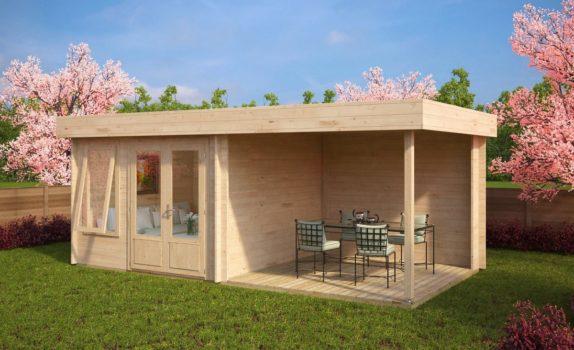 Современный домик с террасой LUCAS D