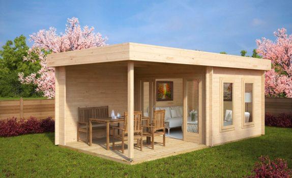 Современный домик с террасой LUCAS E