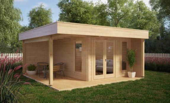 Современный домик с террасой HANSA LOUNGE