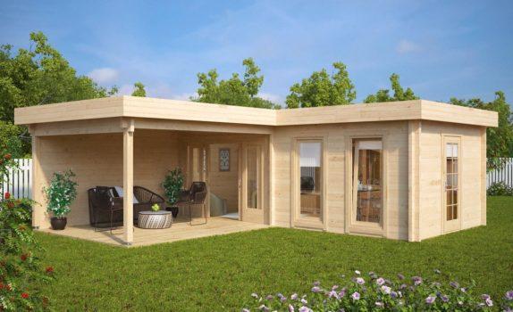 Современный домик с террасой HANSA DELUXE A