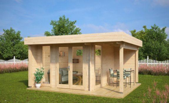 Современный домик с террасой HANSA LOUNGE MINI