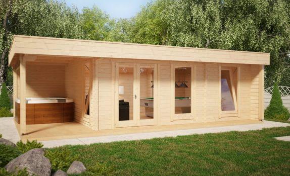 Современный домик с террасой HANSA LOUNGE DELUX