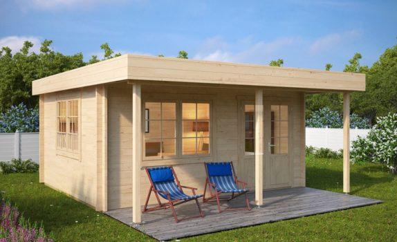 Современный домик с навесом IAN C